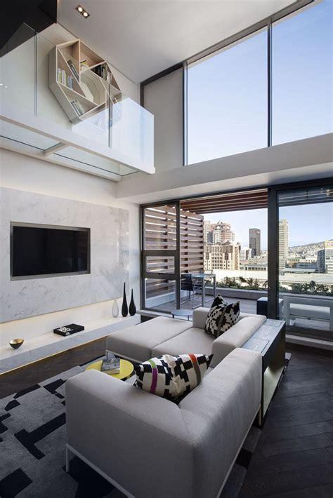 small duplex apartment  modern interior design