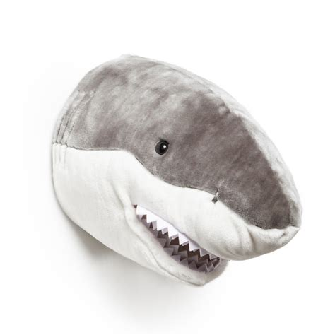 shark plush animal wall decor soft