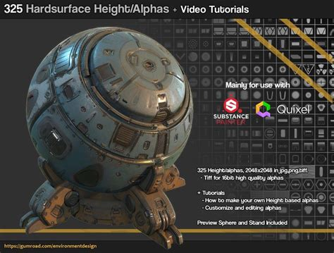 zbrush qremesher tutorial artstation 325 hard surface sci fi alpha height brush