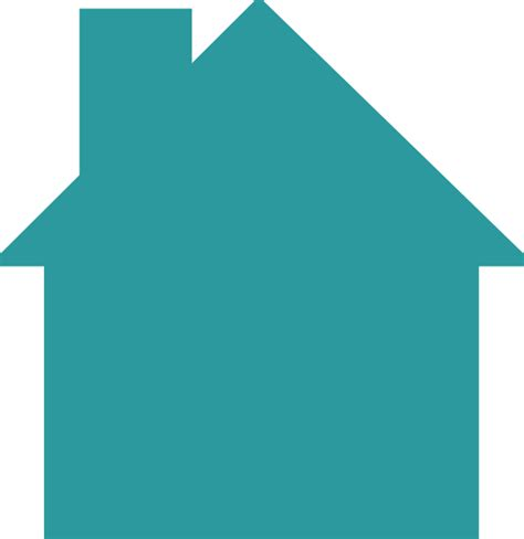 house logo house logo teal clip art at clker com vector clip art