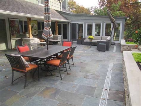 backyard patio by kimball tile traditional patio