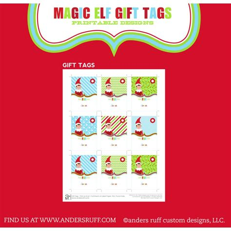 printable elf gift tags magical elf printable christmas gift tags instant download