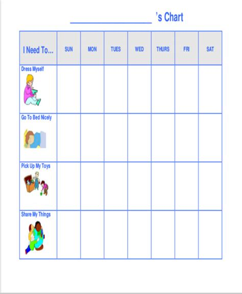 Behavior Charts For Preschoolers Template preschool behavior chart printable best 25 behavior