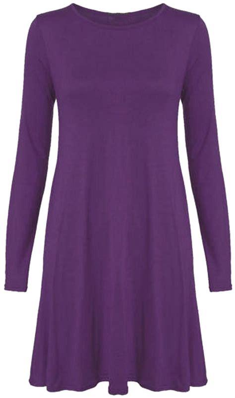 swing dress size 18 new womens plus size long sleeve swing dress 4 18 ebay