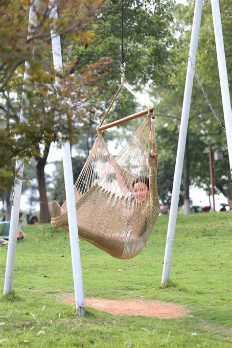 garden rope swing outdoor hanging swing cotton rope hammock chair seat porch