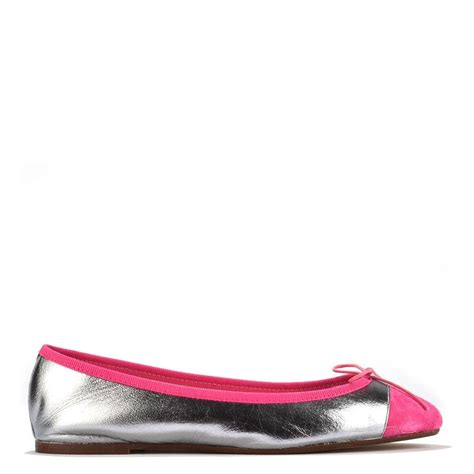 Flat Shoes Pink Silver elia b shoes silver and pink ballet flat