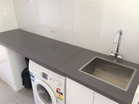 bathroom benchtop ideas polished concrete laundry benchtop by mitchell bink
