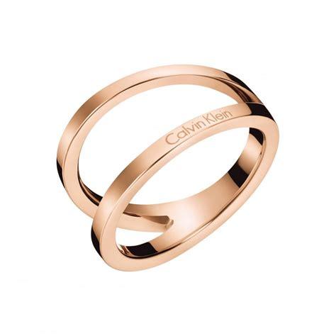 Calvin Klein Rantai Rosegold gold outline ring kj6vpr1001 jewellery from company uk