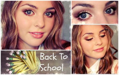 natural makeup tutorial for high school full face glam back to school makeup look youtube