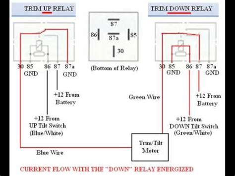 troubleshooting bypassing amp wiring spdt tilt trim relay