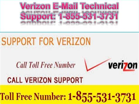 1 855 531 3731 verizon email technical support number