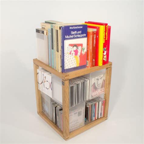 porta cd girevole porta cd a colonna girevole in legno 100 cd zia babele