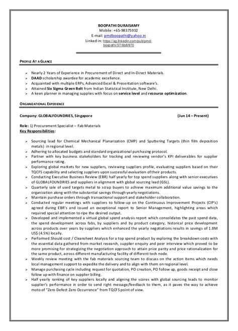 cover letter for procurement specialist 10580 procurement