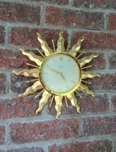best made wall clock sunburst clock ebay ebay find of the day starburst