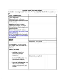 standard lesson plan template lesson plan template 17 free word pdf documents
