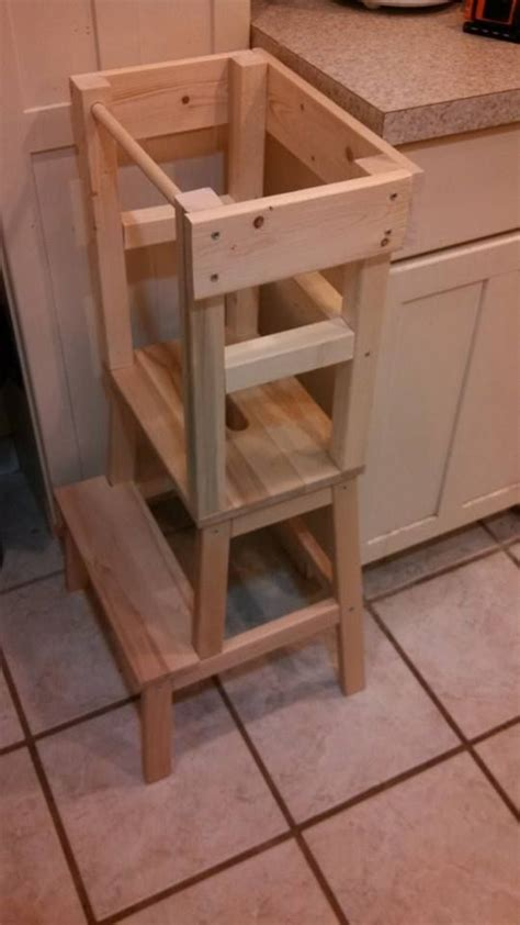 kitchen helper stool ikea blame crayons diy learning tower with materials list