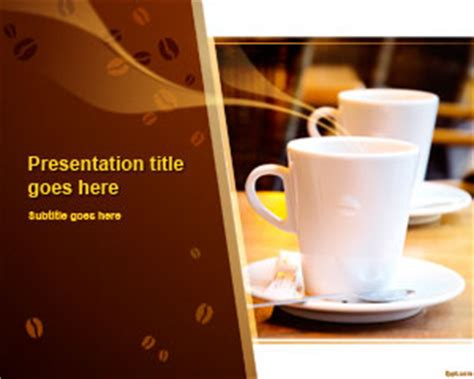 Free Coffee Time Powerpoint Template Coffee Powerpoint Template Free
