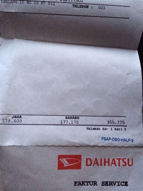 share biaya service  km daihatsu ayla gtx