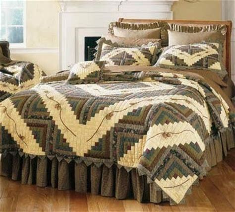 Pine Cone Bedding Set Rustic Big Sky Wildlife Quilt Fullqueen Reclaimed Furniture Design Ideas