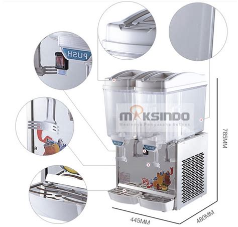 Juice Dispenser Murah Bandung juice dispenser 2 tabung 17 liter adk17x2 toko mesin