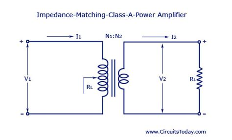 impedance transformer circuit transformer coupled class a power lifier electronic circuits and diagrams electronic