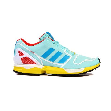 adidas flux shoes adidas zx flux aqua blue yellow white s shoes af6304