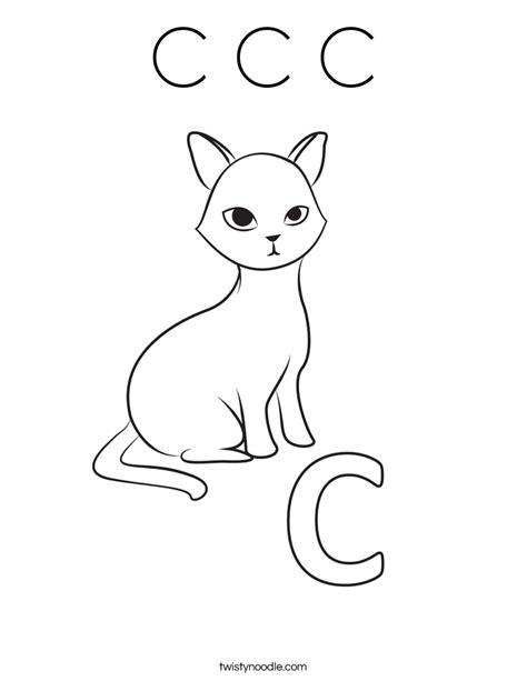 c c c coloring page twisty noodle