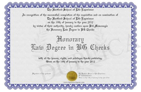 Gets Honorary Mba Degree by Honorary Degree In Bg Checks
