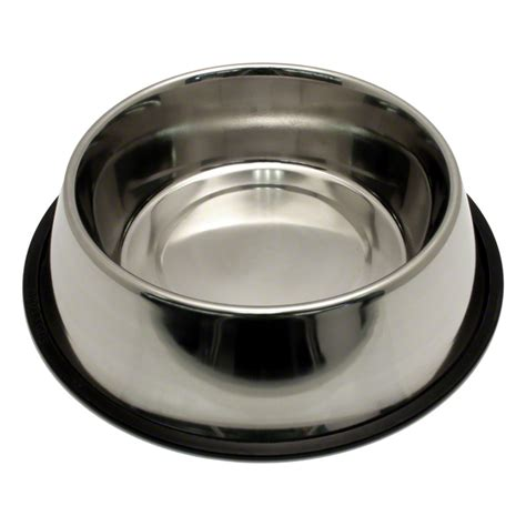 medium stainless steel no tip dog food water bowl 8303