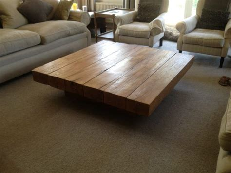 creative ideas    large oak coffee table
