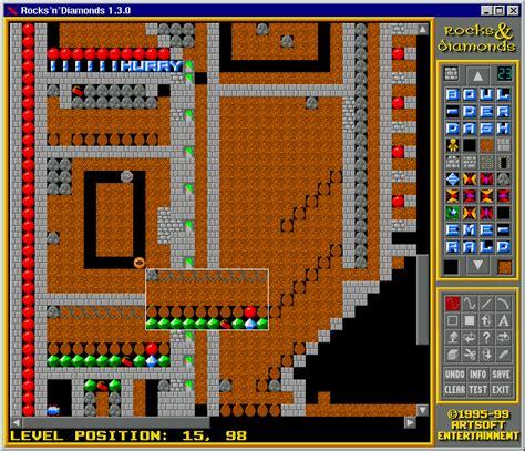 game design level editor artsoft entertainment rocks n diamonds 1 3 0