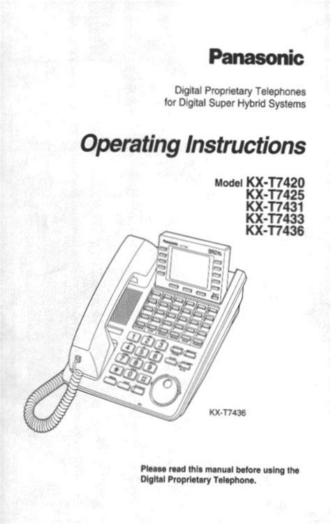 Telephone Kx T7433 free pdf for panasonic kx t7433 telephone manual