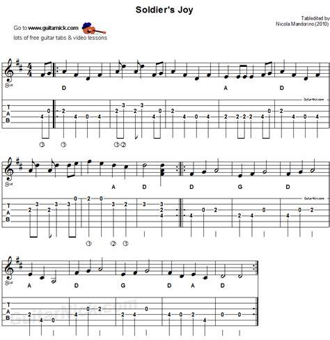 song guitar soldier s sheet guitar tab guitarnick