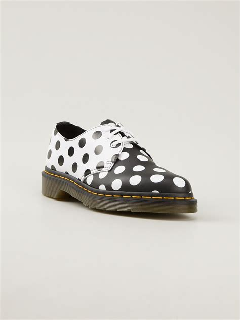 polka dot sneakers dr martens meris polka dot shoes in black lyst