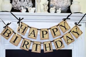 happy birthday banner birthday decorations damask
