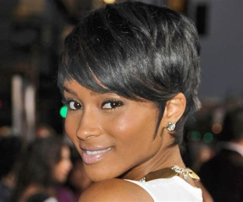 short haircuts for black women with a swoop in the front short pixie hairstyles beautiful hairstyles