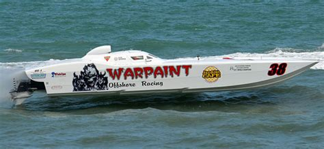 fast boats crashing team warpaint rebuilt and ready for space coast grand prix