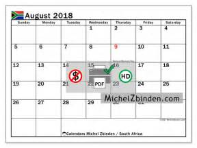 Calendar 2018 Holidays South Africa Calendar To Print August 2018 Holidays In South