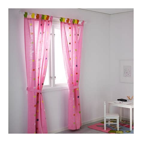 ikea girls curtains ikea festlig curtains drapes pink flower applique 98 quot girl