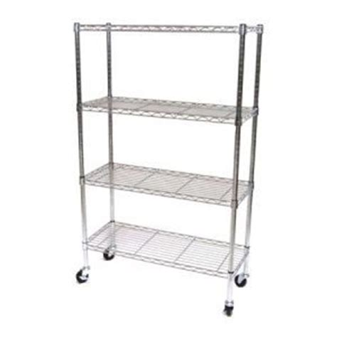 Wire Shelf Wheels by 14 X 36 X 54 Chrome Wire Shelving W Wheels