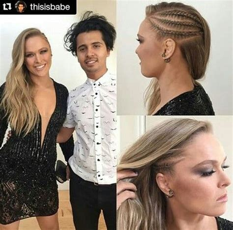 ronda rousey hairstyles ronda s hair style for entourage premier hair