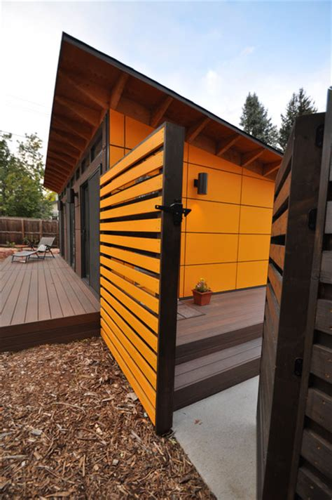 shed with bathroom client studio shed with bathroom 14x26 modern exterior denver by studio shed