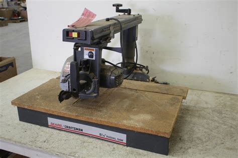 craftsman bench saw craftsman bench top 8 1 4 quot radial arm saw