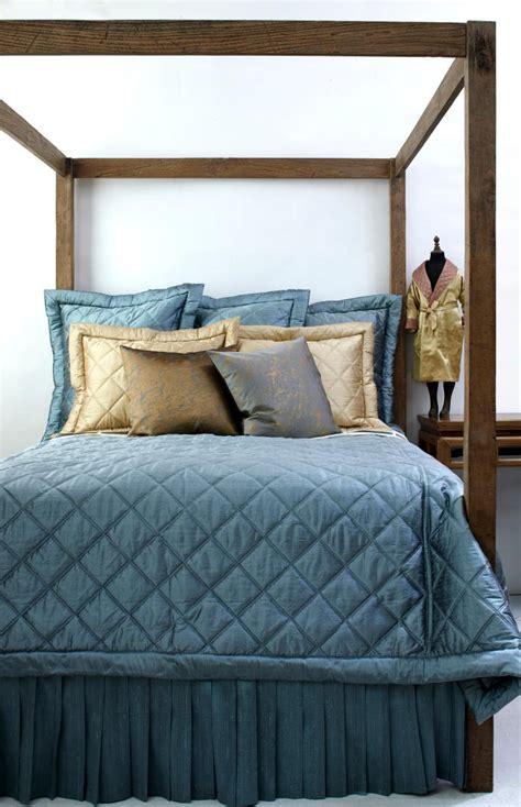 silk quilted coverlet ann gish big diamond dupione silk quilted bedding j
