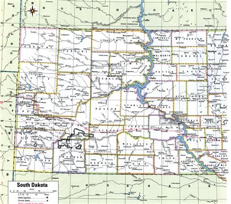 map of dakota south dakota county map free south dakota counties map