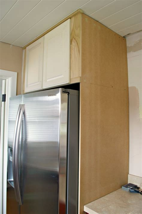 Above Kitchen Cabinets Ideas diy refrigerator cabinet