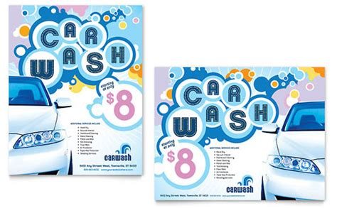 design poster using microsoft office car wash templates word publisher powerpoint