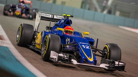 felipe nasr f1 felipe nasr in a sauber c34 during a race wallpaper