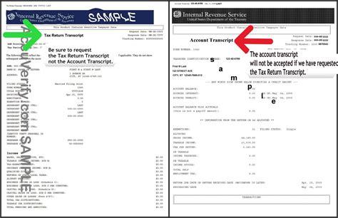 tax return tax return vs transcript