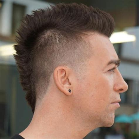 short spiked fohawk mens 50 stylish hairstyles for men with thin hair